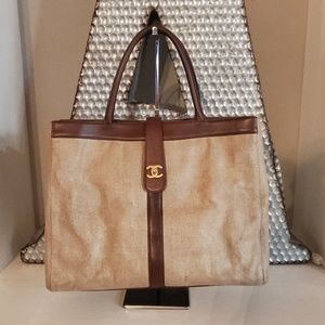 Authentic Chanel cerf tote
